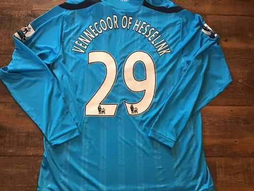 2009 2010 Hull City Vennegoor of Hesselink Player Issue L/s Away Football Shirt